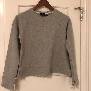Grey lounge ware shirt with white trim